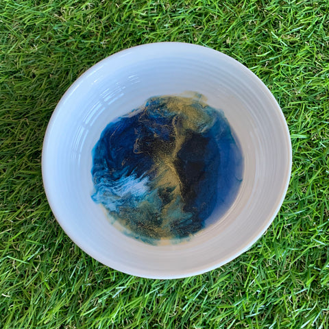 Gemma Michelle Art - Alcohol Ink and Resin Trinket Dish, 11cm