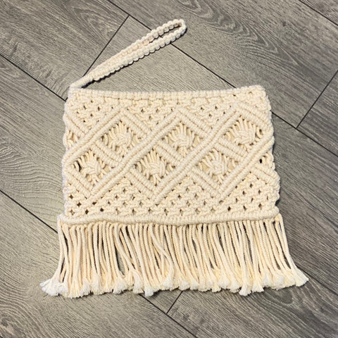 Free Spirit Australia - Large Macrame Clutch Bag with Wrist Strap
