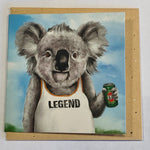 Lalaland - Mini Greeting Card, Legend Koala