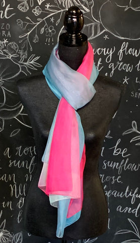 BarraJack Australia - Pink to Blue Ombre Scarf