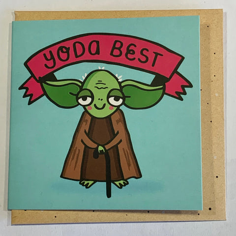 Lalaland - Mini Greeting Card, Yoda Best