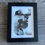 Gemma Michelle Art - Assorted OOAK Abstract Alcohol Ink on Yupo Art Pieces, Framed