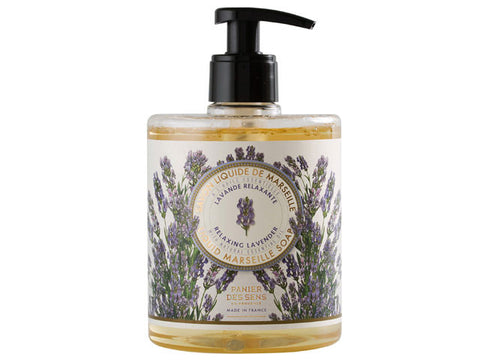 Panier Des Sens - 500ml Liquid Marseille Soap, Relaxing Lavender with Natural Essential Oil