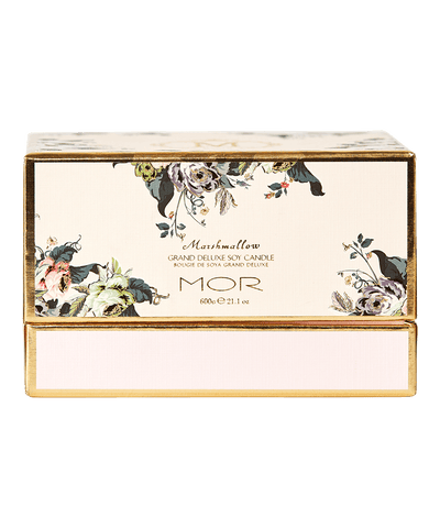 MOR Boutique - Marshmallow Grand Deluxe Soy 3 Wick Candle, 600g