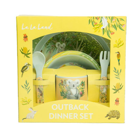 Lalaland - Kid's Melamine Dinner Set, Outback