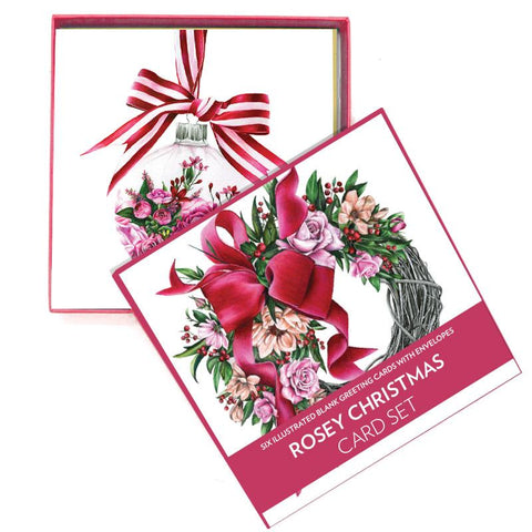 Lalaland - Delux Christmas Card Set, Rosey Christmas