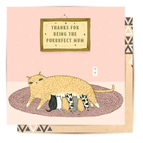 Lalaland - Purrfect Mum Mother's Day Card