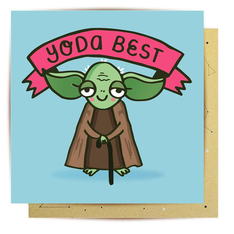 Lalaland - Yoda Best Greeting Card