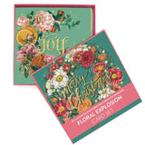 Lalaland - Delux Christmas Card Set, Floral Explosion