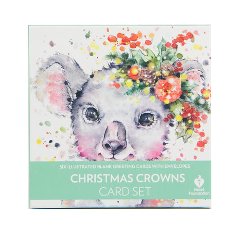 Lalaland - Delux Christmas Card Set, Christmas Crowns