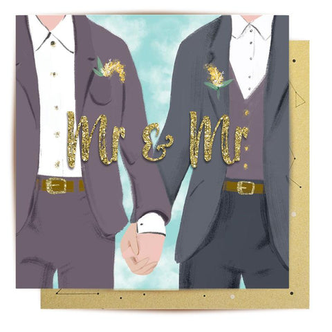 Lalaland - Mr and Mr Gold Greeting Card