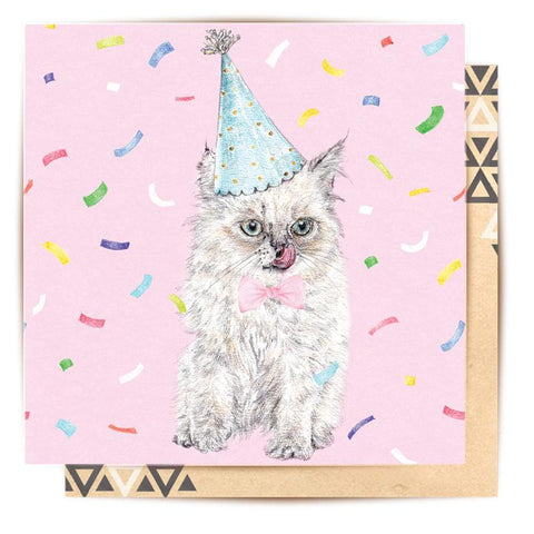 Lalaland - Birthday Kitty Greeting Card