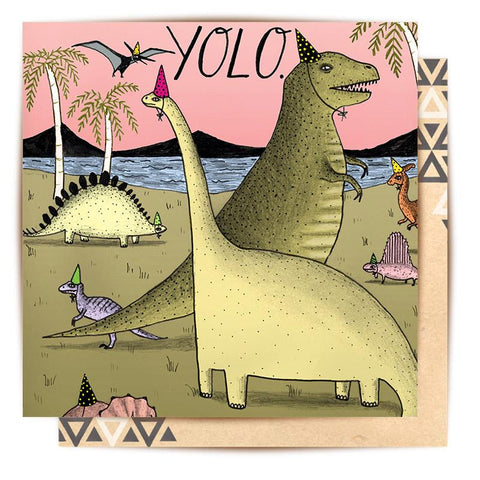 Lalaland - YOLO Greeting Card