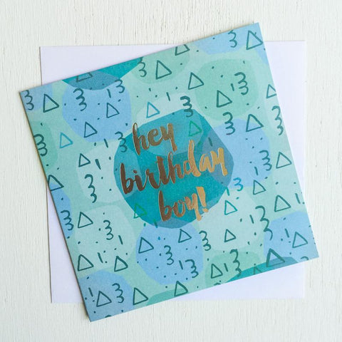 Lalaland - Hey Birthday Boy Greeting Card