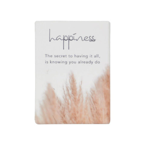 Splosh - Natural Oasis Ceramic Magnet, Happiness