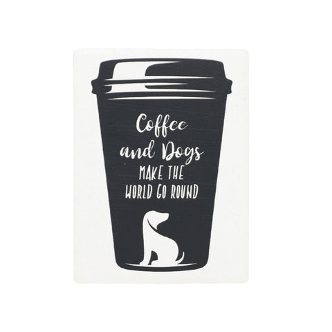 Splosh - Pet Ceramic Magnet, Coffee and Dogs