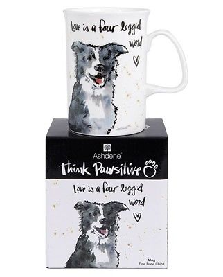 Ashdene - Think Pawsitive Mug, Border Collie