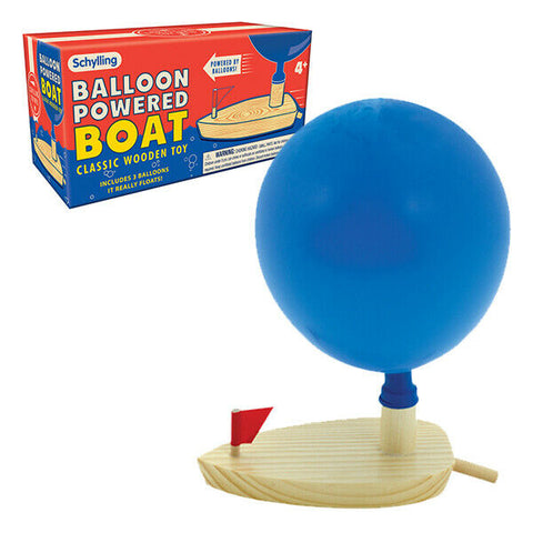 Schylling - Balloon Powered Boat Classic Wooden Toy