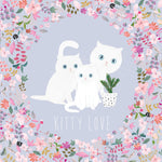 Lalaland - Kitty Love Greeting Card