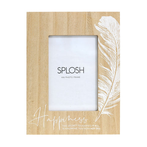 Splosh - Tranquil Wooden Happiness 4x6 Frame