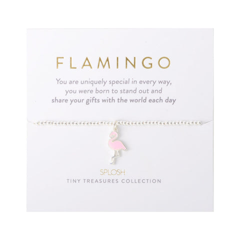Splosh - Tiny Treasures Children's Bracelet, Flamingo