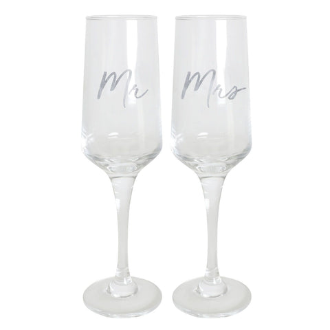 Splosh - Mr and Mrs Champagne Flute Set