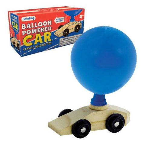 Schylling - Balloon Powered Car Classic Wooden Toy