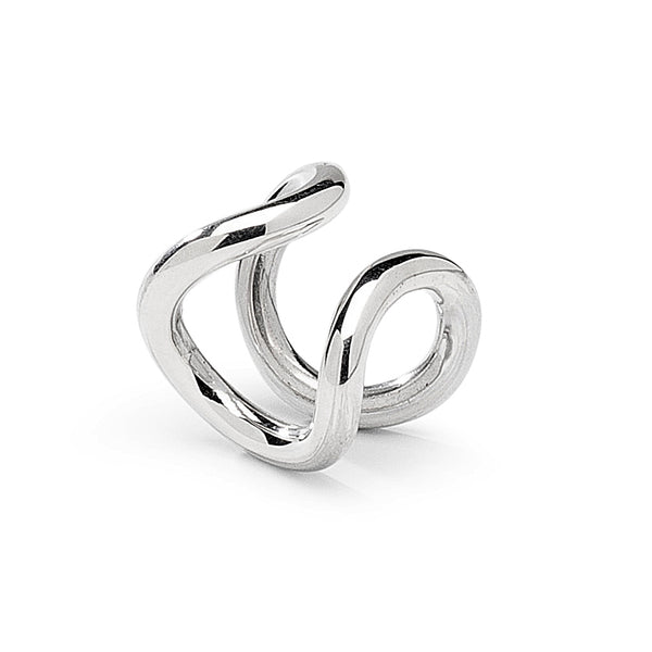 Mini Bold Ear Cuff Silver