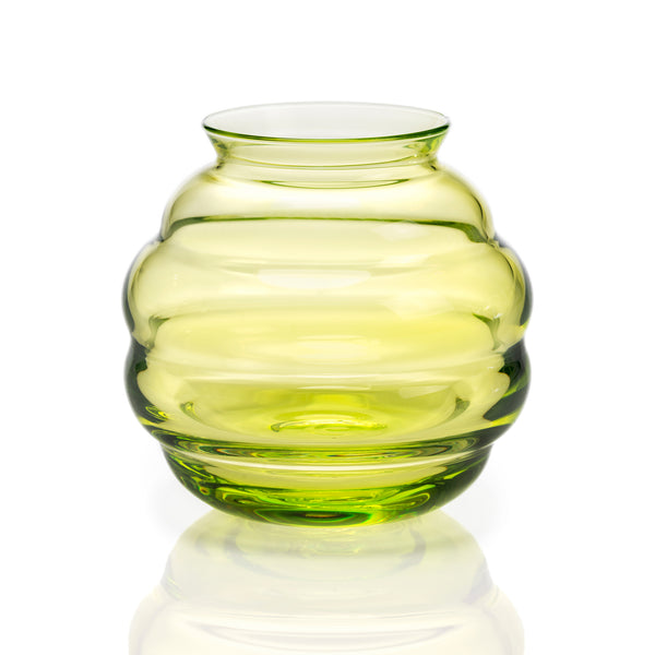 Crystal Copier Vase Green