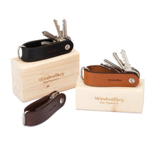 Leather Key organiser Cognac