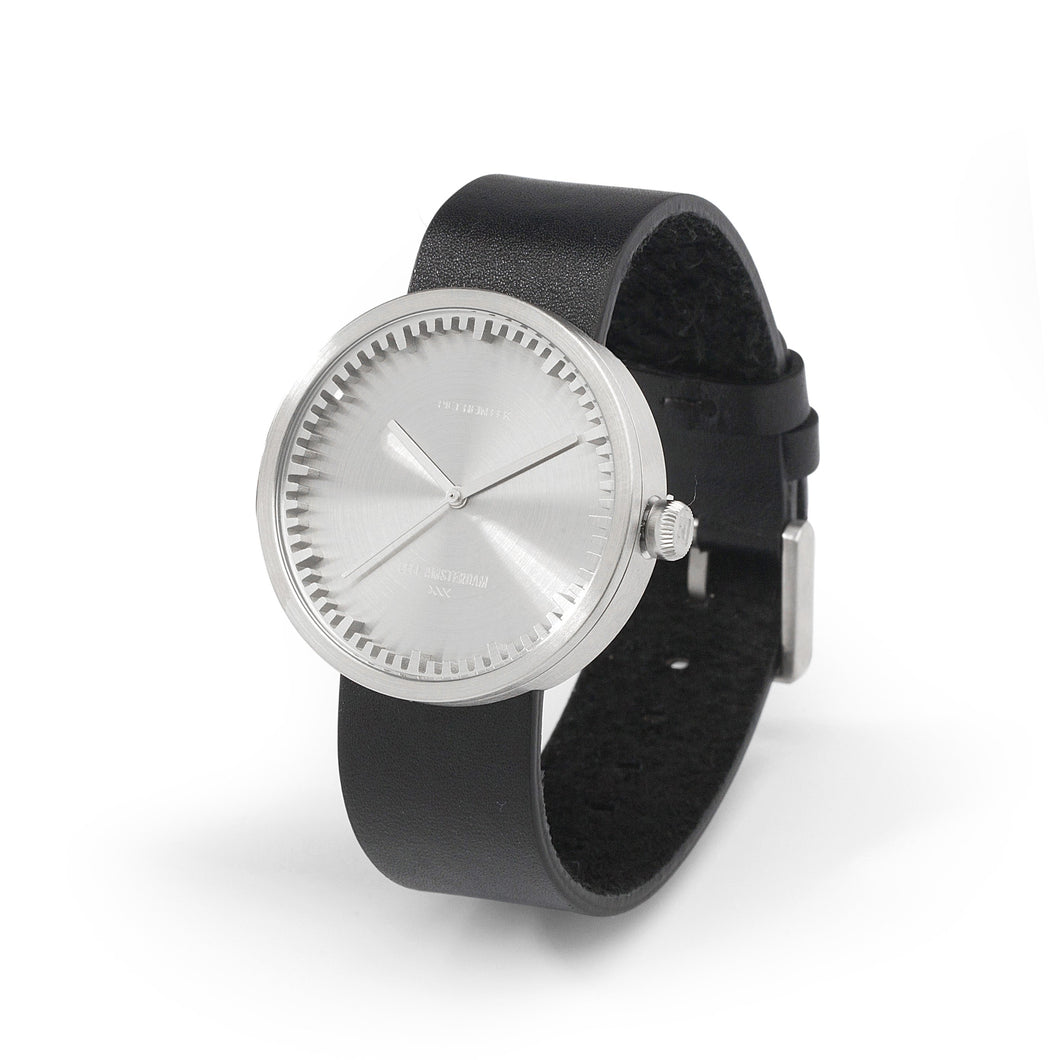 Silver/Black Tube Watch Women