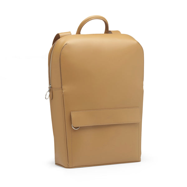 TEYM Camel Leather Backpack