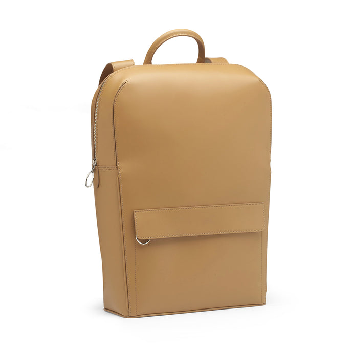 Camel Leather Backpack
