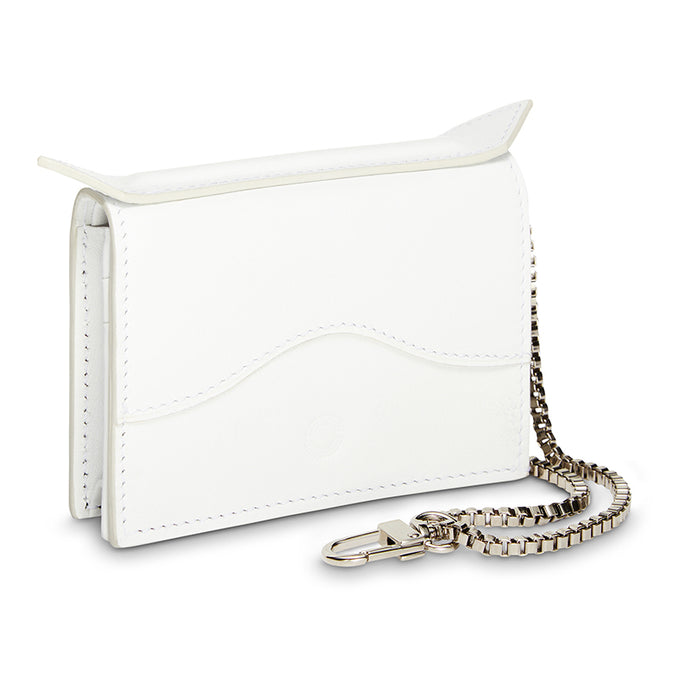 White Quilted Cardholder