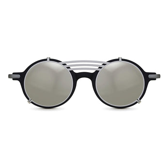<strong>Robert - T - Triple Bridge</strong> <br> Black / Silver Temples & Silver Clip On