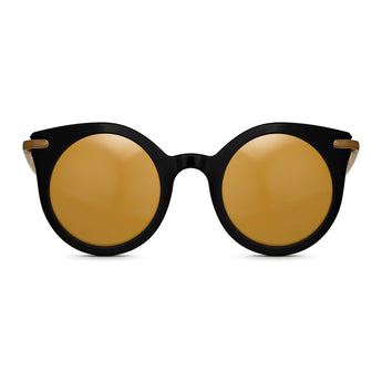 <strong>Loli - T</strong> <br> Black / Gold Temples & Gold Mirror