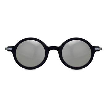 <strong>Robert - T</strong> <br> Black / Silver Temples & Silver Mirror