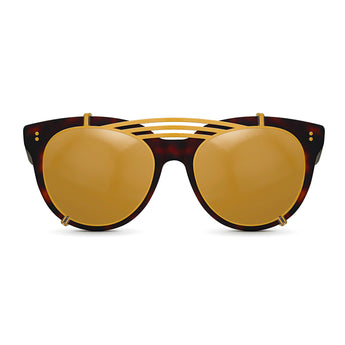 <strong>Olivia - Triple Bridge</strong> <br> Havana / Black w/ Gold Clip On