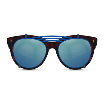 <strong>Olivia - Triple Bridge</strong> <br> Havana / Black w/ Blue Clip On