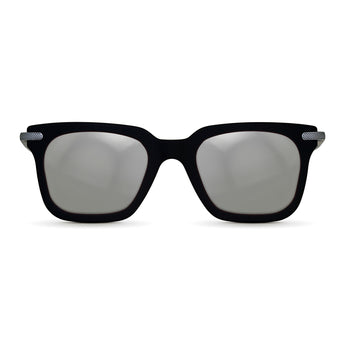 <strong>Winston - T</strong> <br> Black / Silver Temples & Silver Mirror