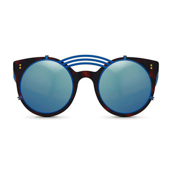 <strong>Loli - Triple Bridge</strong> <br> Havana / Blue w/ Blue Clip On