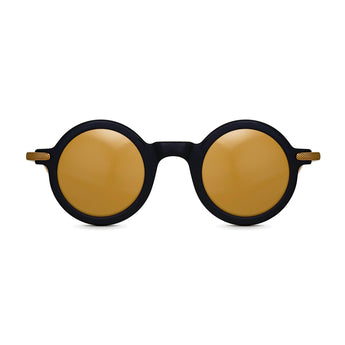 <strong>Jasper - T</strong> <br> Black / Gold Temples & Gold Mirror