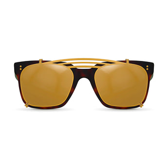 <strong>Winston - Triple Bridge</strong> <br> Havana & Green w/ Gold Clip On