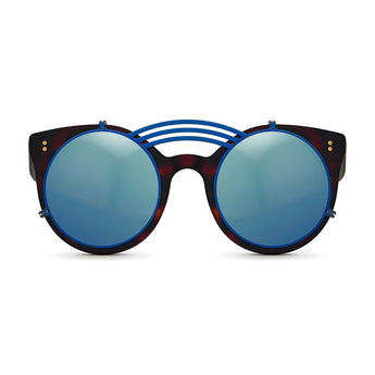<strong>Loli - Triple Bridge</strong> <br> Havana / Black w/ Blue Clip On
