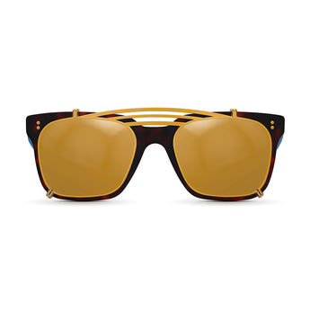 <strong>Winston - Triple Bridge</strong> <br> Havana & Blue w/ Gold Clip On