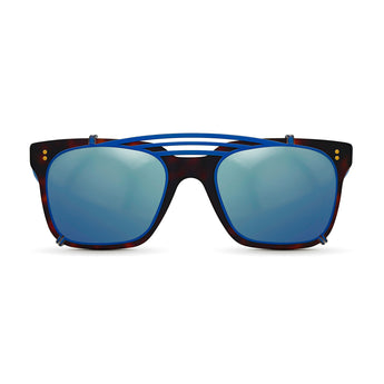 <strong>Winston - Triple Bridge</strong> <br> Havana & Blue w/ Blue Clip On
