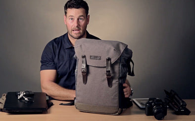 YouTube Video of BAGSMART Camera Backpack with 15.6 Inch Laptop Compartment and Waterproof Rain Cover