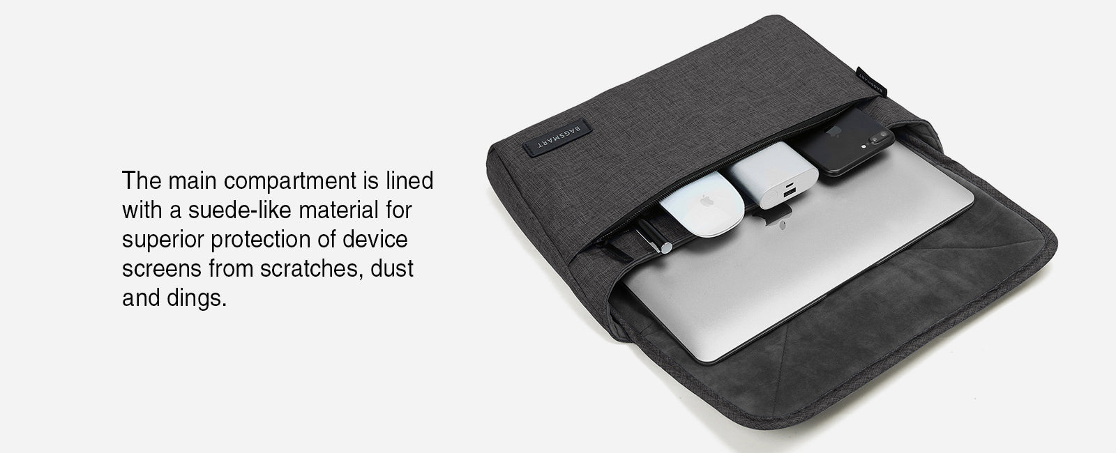 Portable Slim Laptop Sleeve Briefcase Travel Electronics Case & Laptop Bag for 13'' MacBook pro, MacBook Air, Kindle