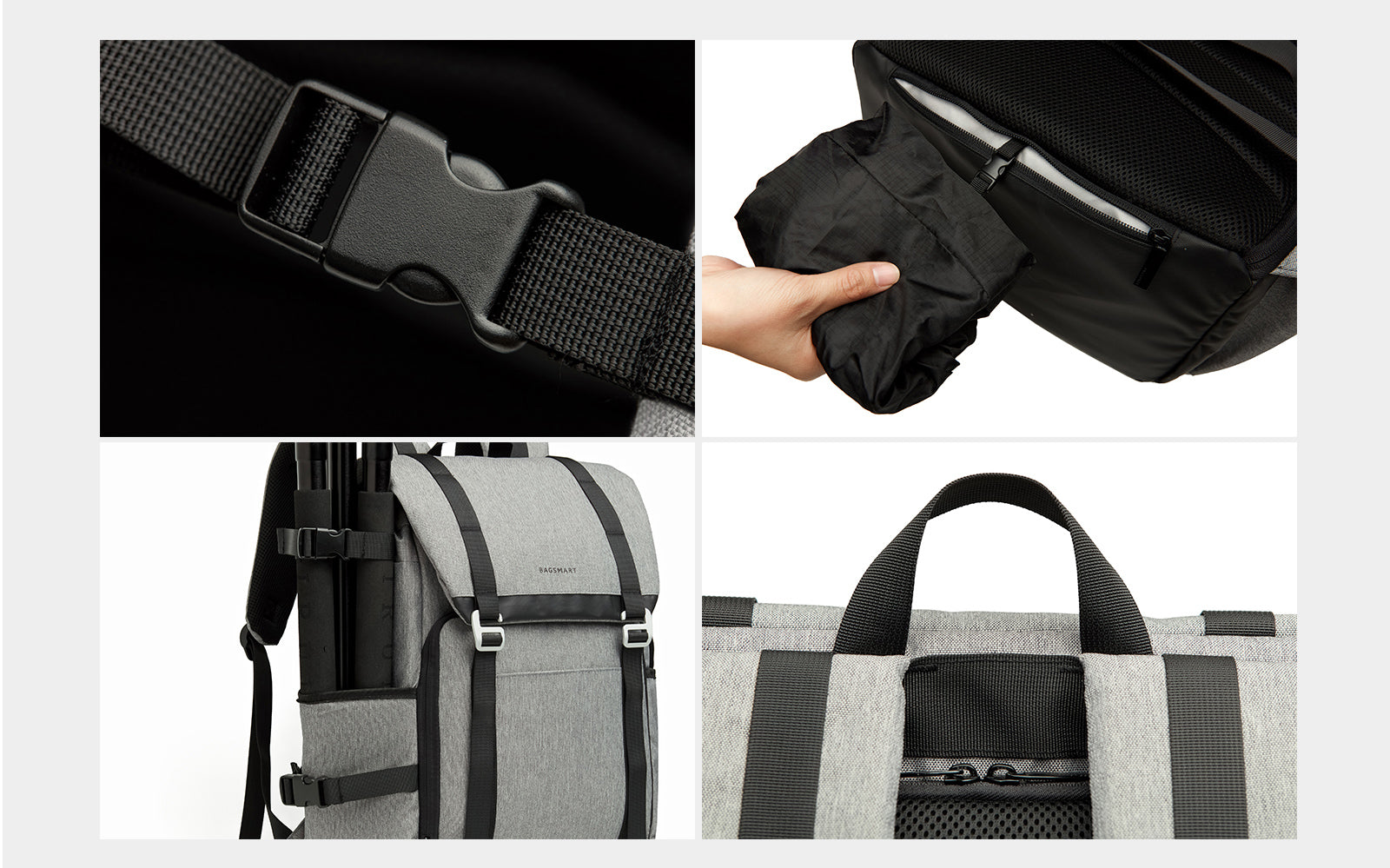 "DSLR Camera Backpack with Padded Custom Dividers, 15.6"" Laptop Compartment and Accessory Storage"