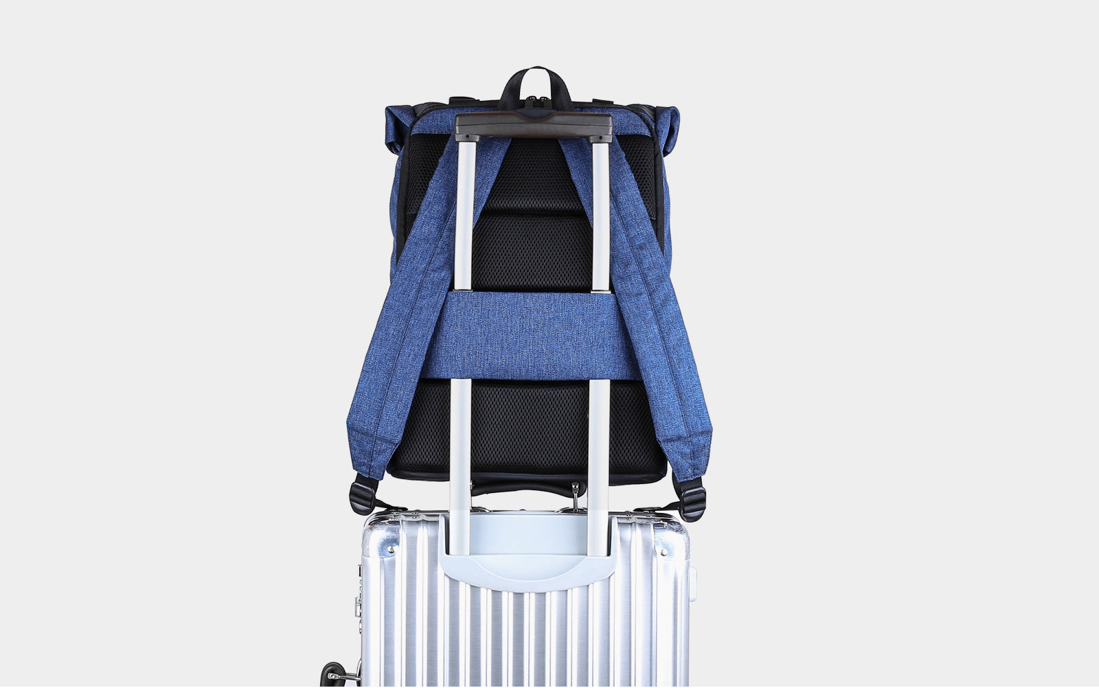 Laptop Backpack Weekender Travel Business Multipurpose Roll-Top Fashion Rucksack Fits 15.6 Inch